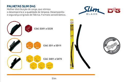 Dyna Limpadores de Para Brisas - Linha Slim Blade D4G