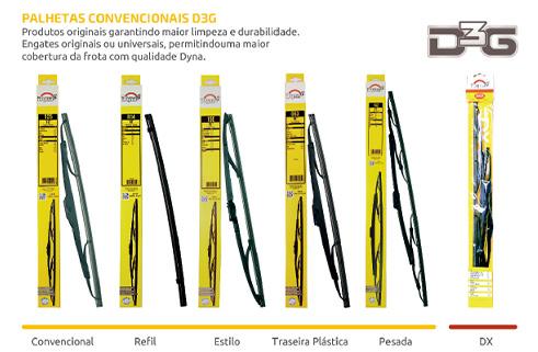 Dyna Limpadores de Para Brisas - Linha D3G