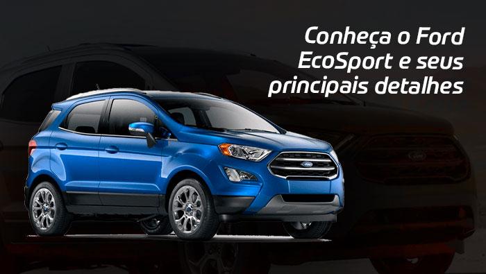 A imagem mostra uma foto do Ford EcoSport.