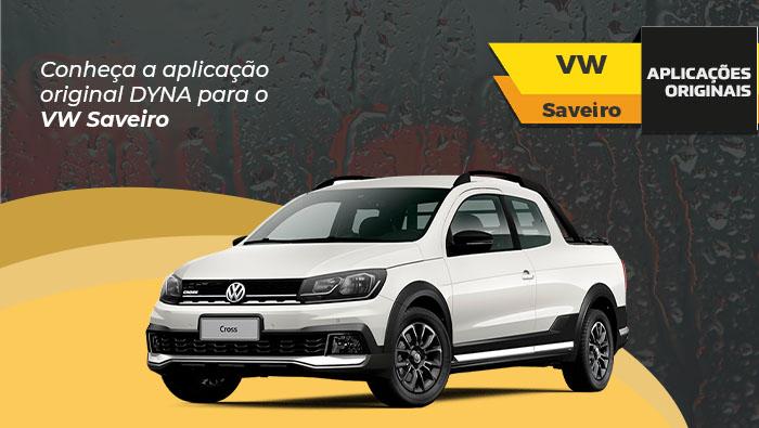 A imagem mostra o carro Saveiro da Volkswagen branco.