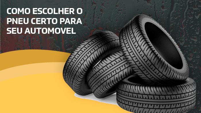A imagem mostra quatro pneus juntos.