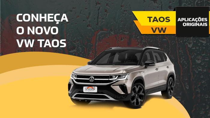 A imagem mostra um Taos da Volkswagen.