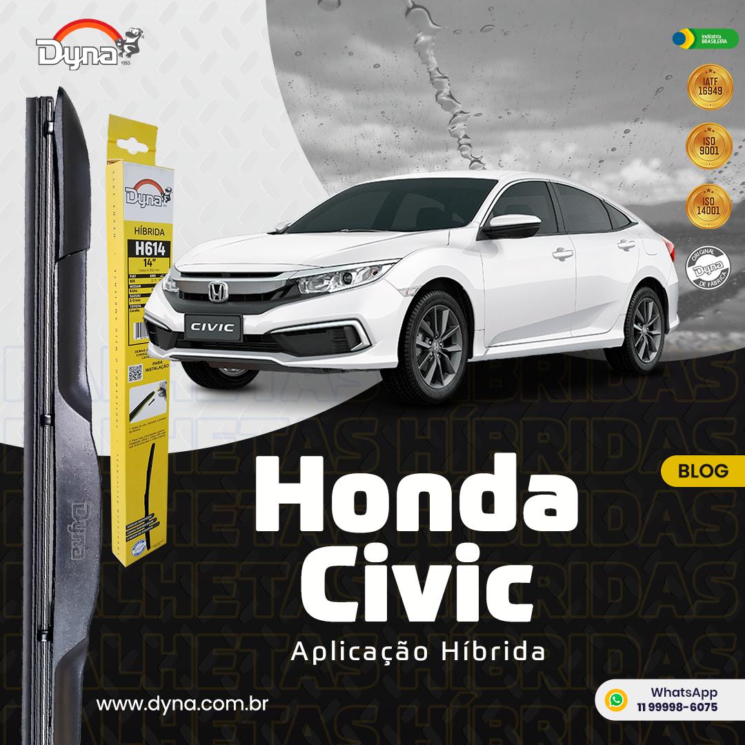 A imagem mostra um para-brisa todo molhado por conta da chuva, um limpador de para-brisa no meio do vidro, e um carro na frente.